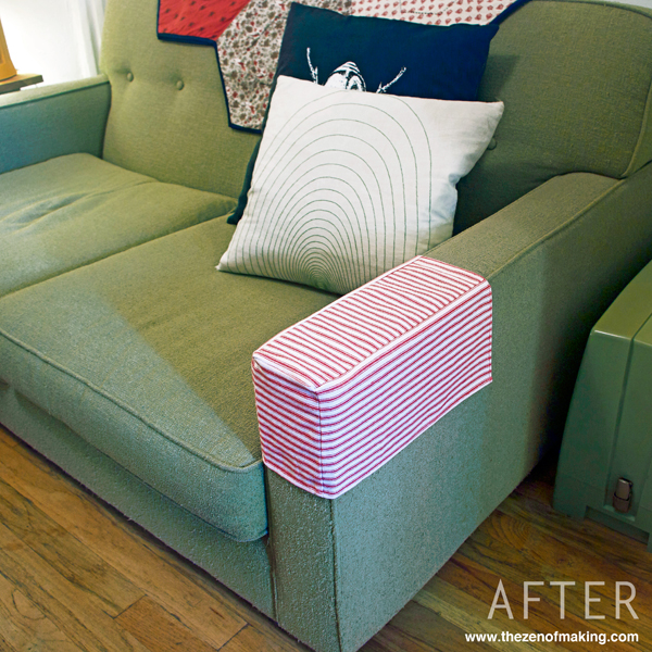 Tutorial Simple Fabric Armrest Covers The Zen Of Making