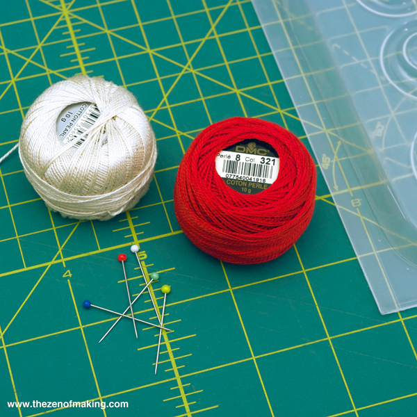Tutorial: Resin Sewing Thread and Embroidery Floss Pendants | Red-Handled Scissors
