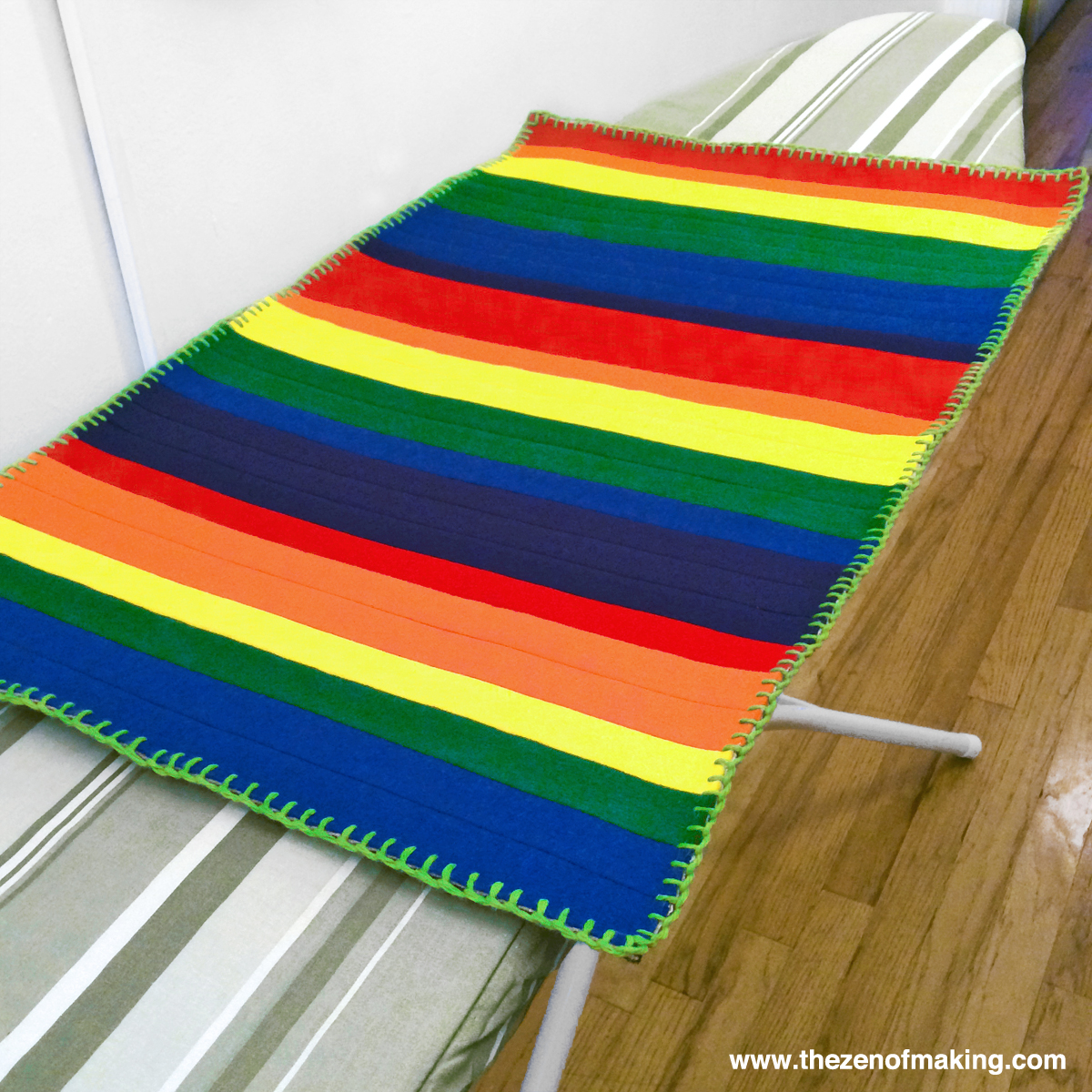 Book Project Giveaway Wool Binding Kitchen Rug For Hand