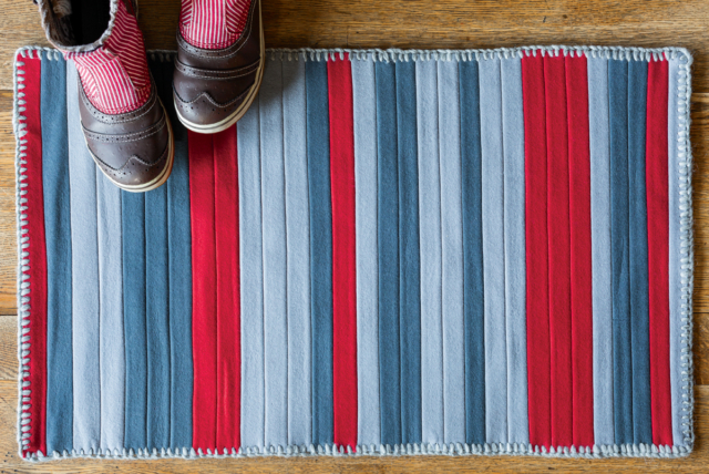 Book Project + Giveaway: Wool Binding Kitchen Rug for Hand-Stitched Home | The Zen of Making