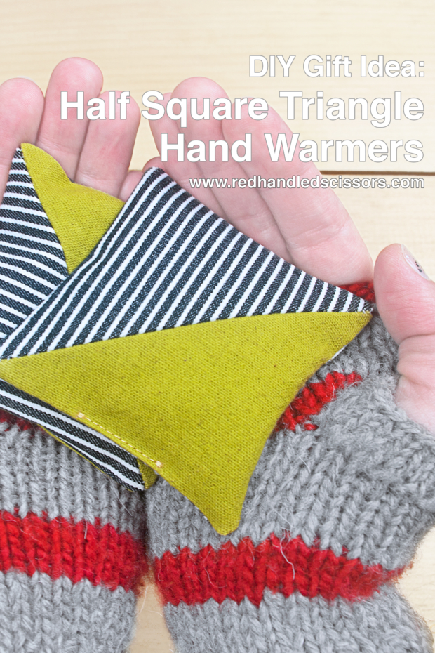 Last-Minute Gift Idea: Half Square Triangle Hand Warmers
