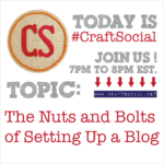 Today's Craft Social: The Nuts and Bolts of Setting Up a Blog | Red-Handled Scissors