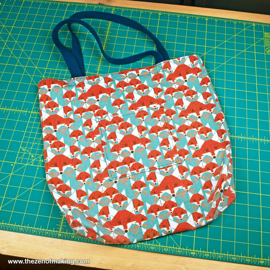 Sunday Snapshot: A Fun Fox Tote Bag to Kick Off 2015 | Red-Handled Scissors