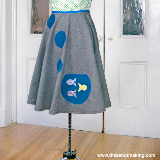 Tutorial: Goldfish Bowl Poodle Skirt with AccuQuilt GO! Big | The Zen of Making