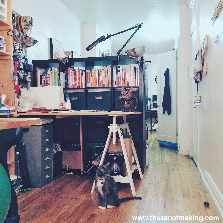 Sunday Snapshot: Of Craft Studio Cats and Springtime Allergies