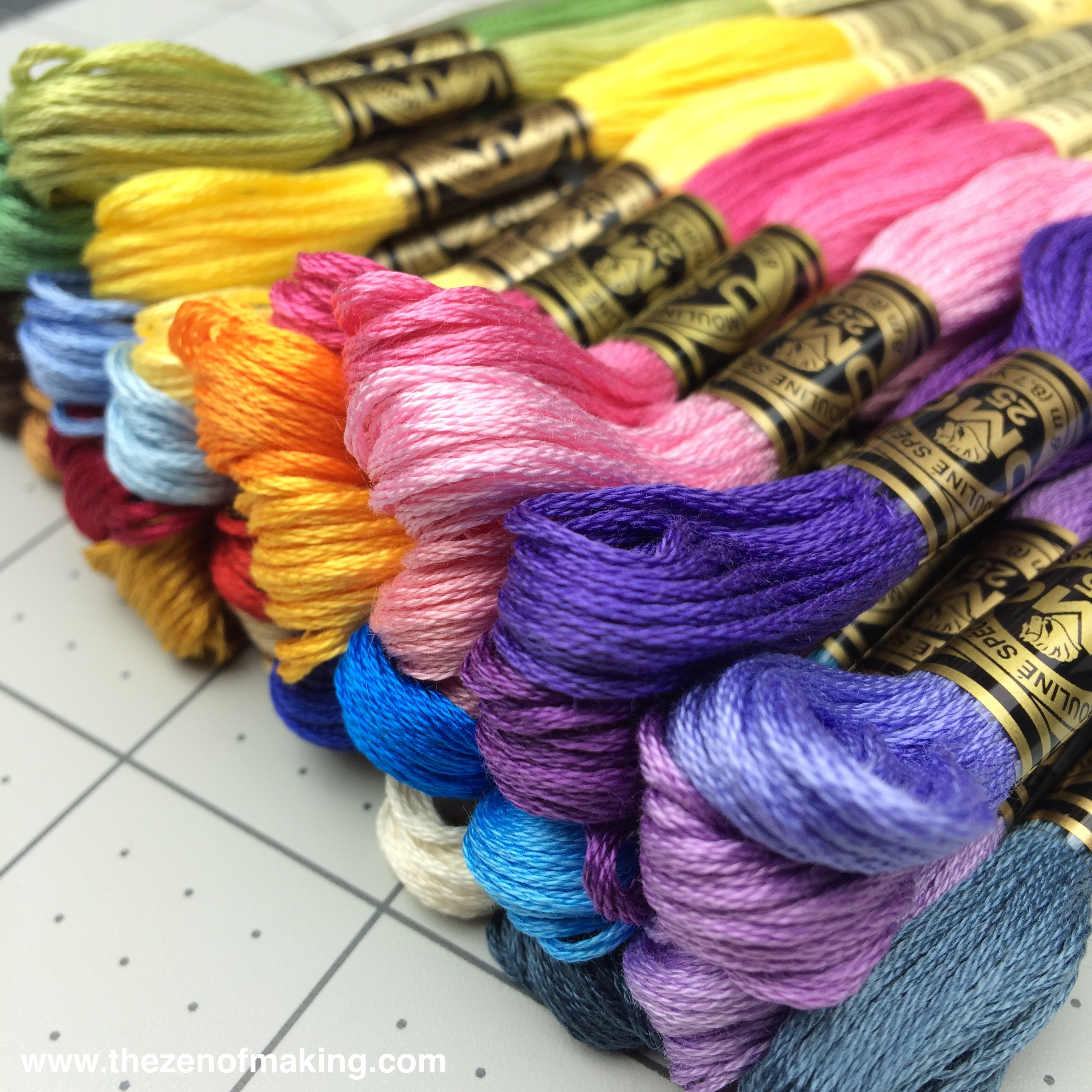 Happy Post: Pretty Embroidery Floss + Fancy New Website Design