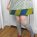Tutorial: Lengthen a Too-Short Skirt with EPP - The Diamond-y EPP Blog Hop + Giveaway | Red-Handled Scissors