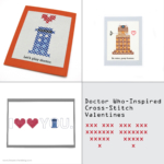 Get Your Geek On: Doctor Who-Inspired Cross-Stitch Valentines | Red-Handled Scissors