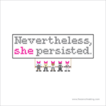 Pattern: Nevertheless, She Persisted Cross-Stitch Sampler | Red-Handled Scissors