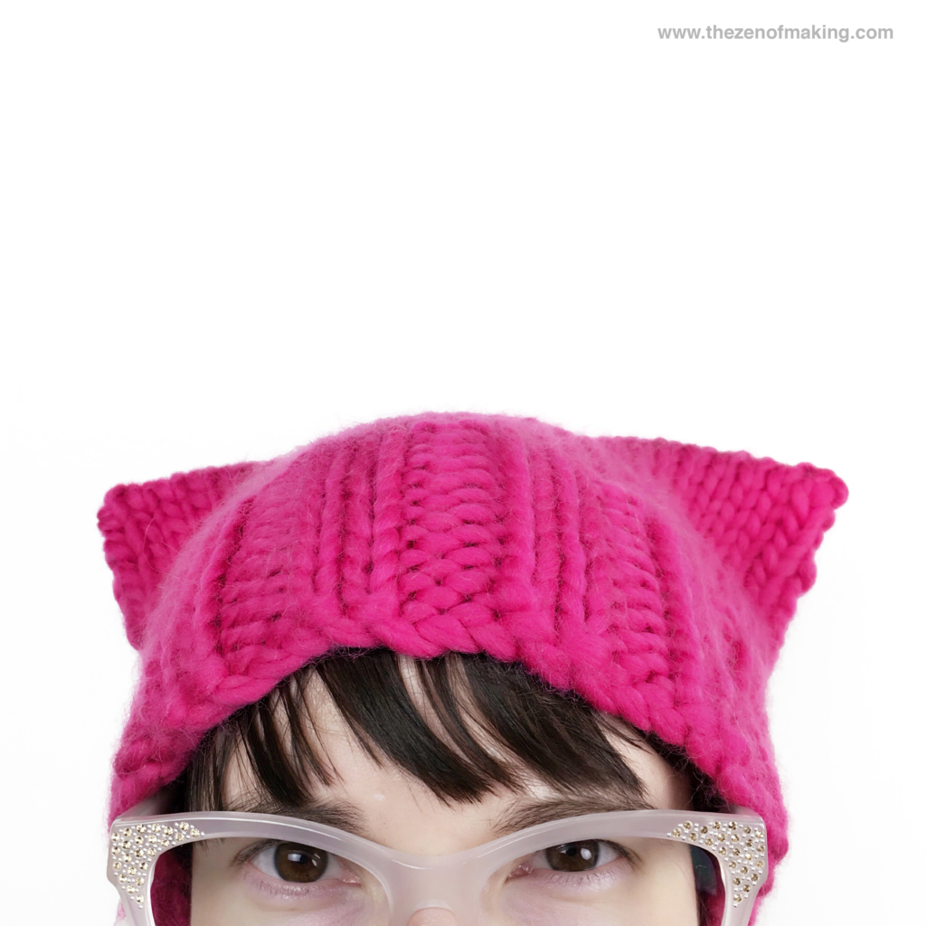 Tutorial: Basic Pussyhat Knitting Pattern | Red-Handled Scissors