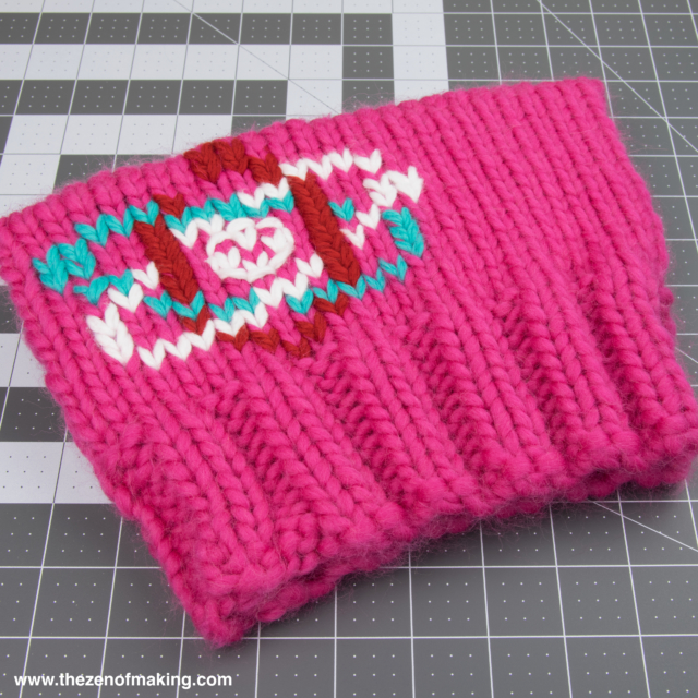 Pussyhat Upgrade: March for Science Duplicate Stitching