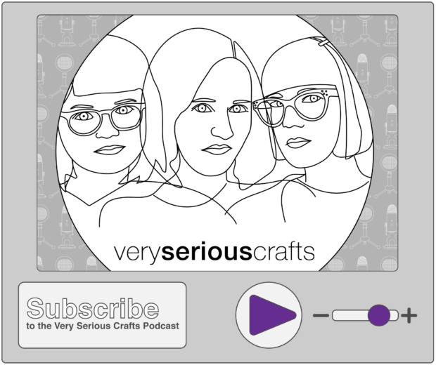 New Episode: The Very Serious Crafts Podcast, S01E14 – Creepy Craft Supplies, Pumpkin Latch Hook, and DIY Costumes for Grown-Ups