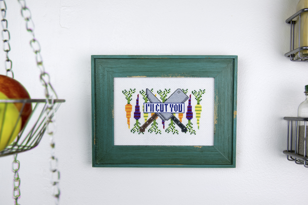 I'll Cut You - Improper Cross-Stitch, by Haley Pierson-Cox