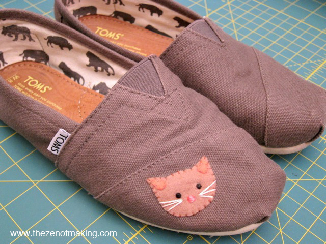 Tutorial Canvas Shoe Kitty Patch