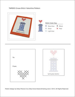Pattern: TARDIS Cross-Stitch Valentine | The Zen of Making
