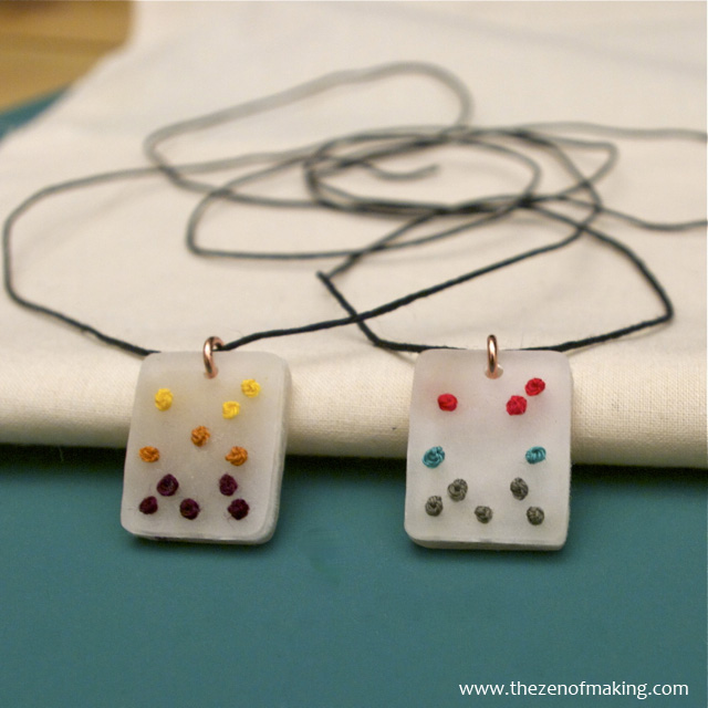 Tutorial embroidered shrink plastic pendants red handled scissors mozeypictures Gallery