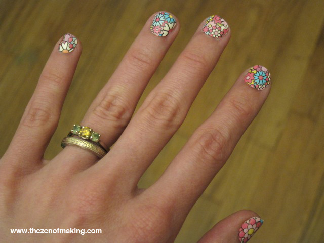 Cheater Craft: Nail Art with Polish Strips