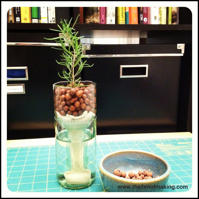how to make wine bottle into planter