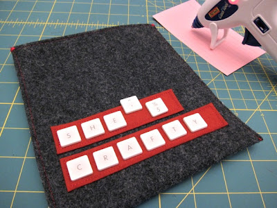 Tutorial: Upcycled Keyboard Embroidery Hoop Sleeve | Red-Handled Scissors