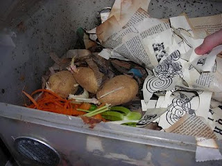 Tutorial: Vermicomposting: Don't Forget to Feed the Worms | Red-Handled Scissors
