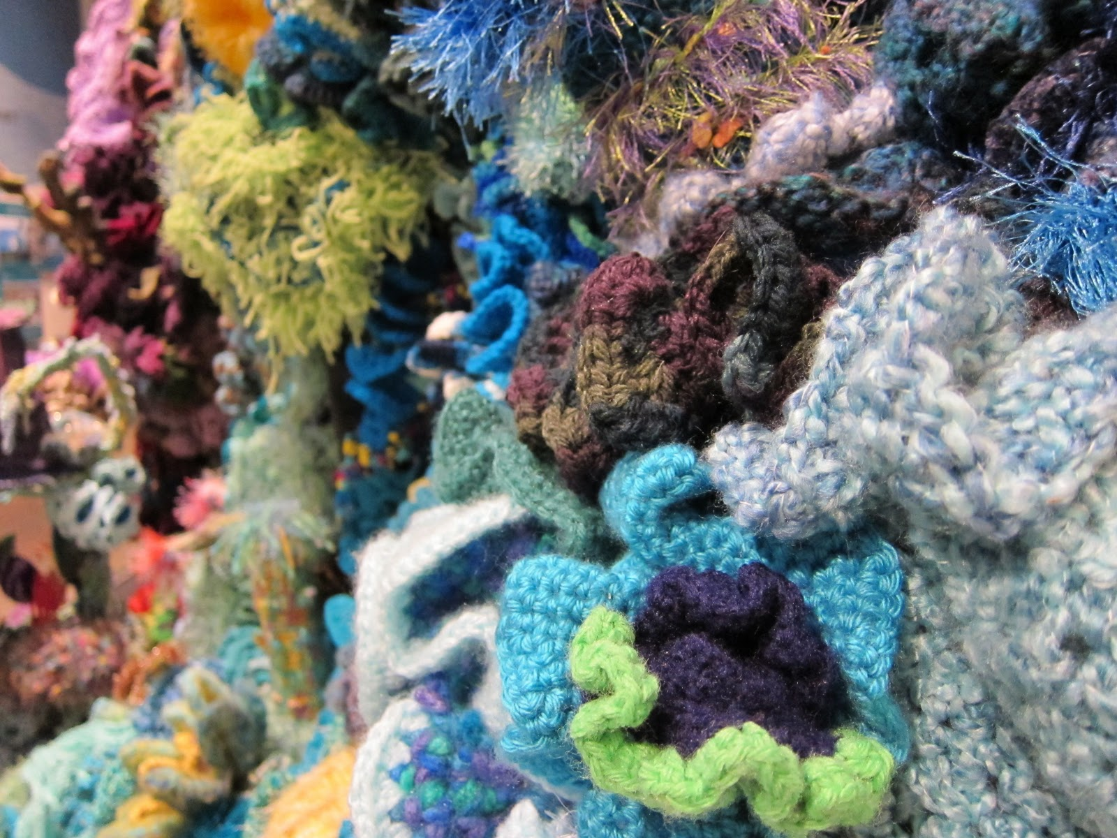 Hyperbolic Crochet Coral Reef Exhibit At The Smithsonian Red